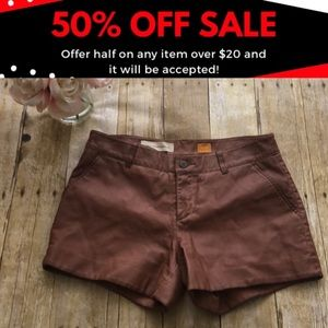 Anthropologie Pilcro Faux Leather Shorts- Size 27